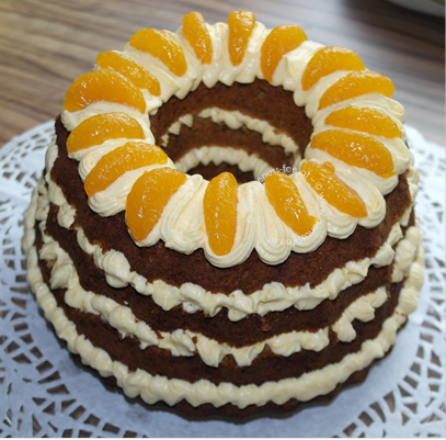 Mandarinen-Haselnuss-Kuchen 2