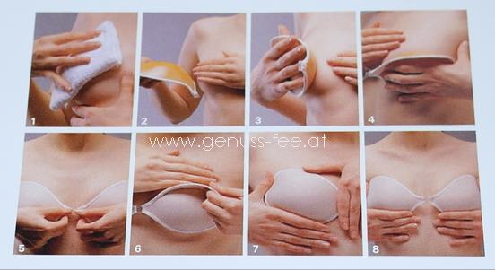 Es gibt zwei unterschiedliche Büstenhalter zum Aufkleben. Einerseits das Brust Tape, bei dem es sich lediglich um eine Art Klebeband handelt und andererseits den Schalen BH mit Klebestreifen. Das Brust Tape wird unterhalb der Brust angebracht. Daher fällt ihm .