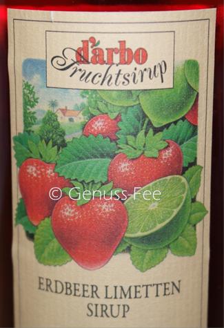 Erdbeer Limetten Sirup