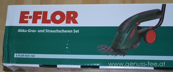 E-Flor Akku-Gras- u. Strauchschere