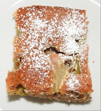 Rhabarber-Blechkuchen 1