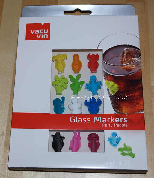 Solvino - Vacu Vin Glass Markers Party People2